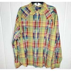 Polo Ralph Lauren XXL Pearl Snap Button Shirt
